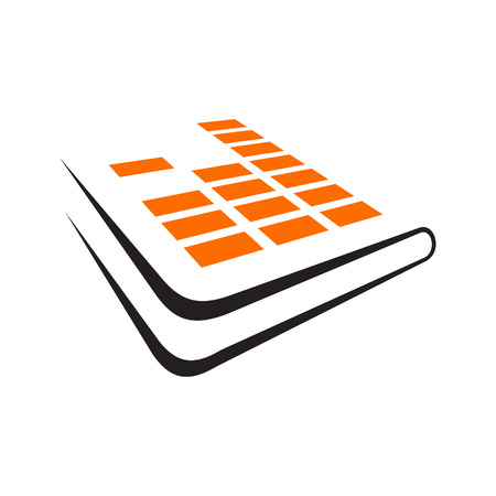 Branding identity corporate audio book symbol isolated on white background Illustration