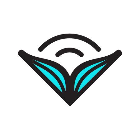 tehnology: Branding identity corporate symbol isolated on white background Illustration