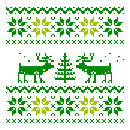 Scandinavian ornament for use in the clothing industry Vector