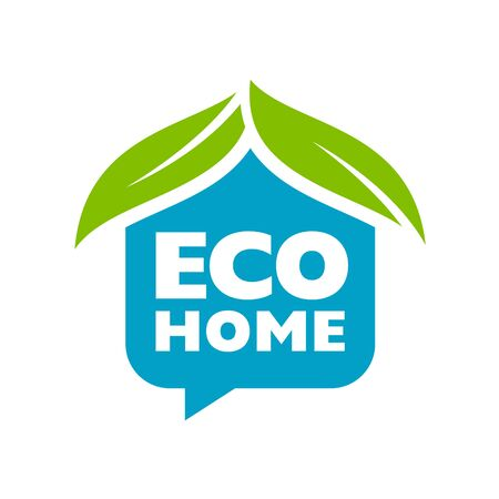 ecology house: Branding identity corporate eco home symbol isolated on white background