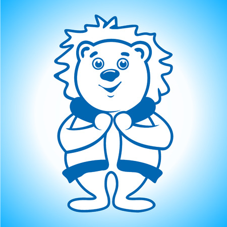 eskimo dog: Polar bear in warm clothes Illustration