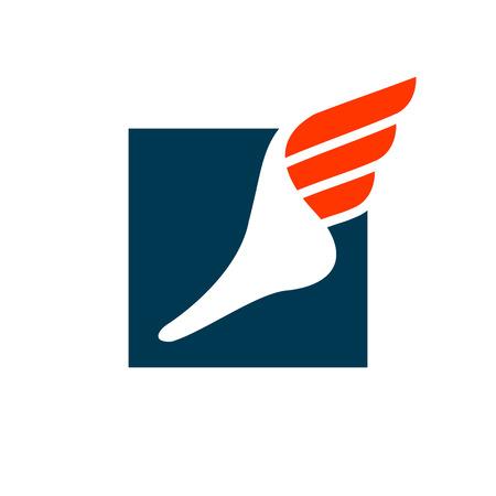 白い背景上に分離されて企業翼シンボルのアイデンティティをブランディング