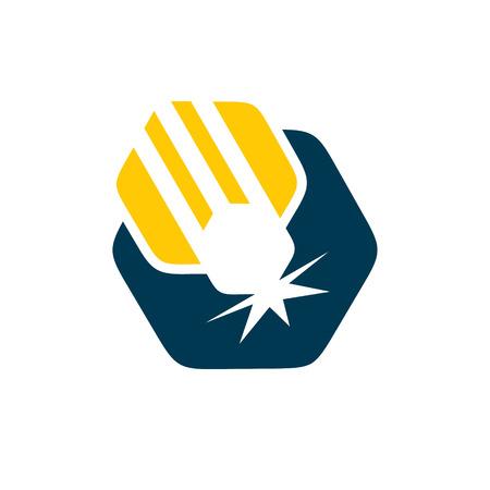 machining: Branding identity corporate symbol isolated on white background Illustration