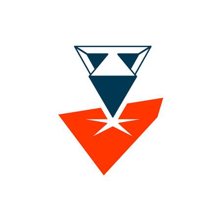 materiales construcci�n: Identidad de marca s�mbolo corporativo aislado en fondo blanco