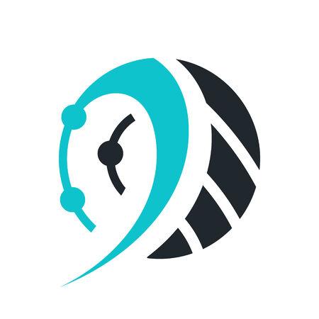 technology trends: Branding identity corporate symbol isolated on white background Illustration