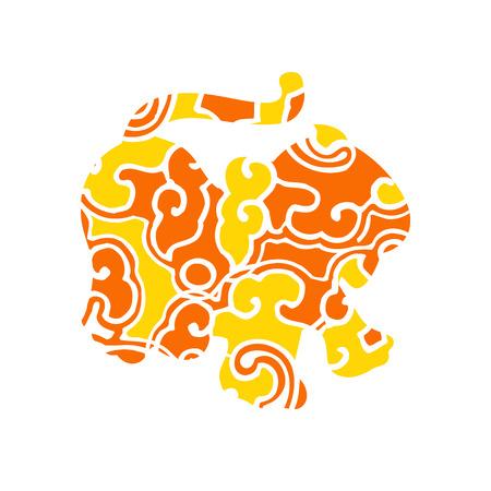 Branding identity corporate animal symbol isolated on white background Vector
