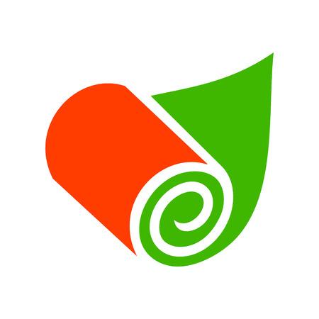 paperhanging: Branding identity corporate logo isolated on white background Illustration
