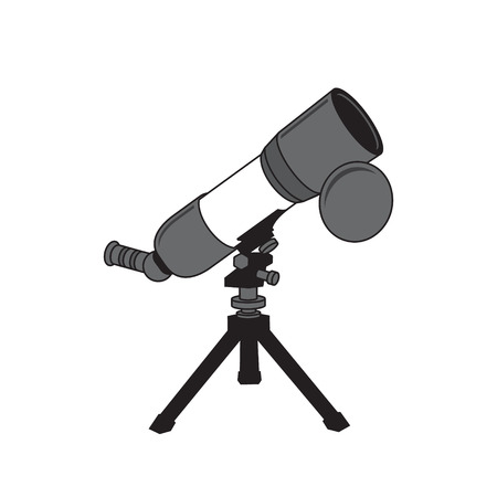 refracting: Device for observing the stars on a white background