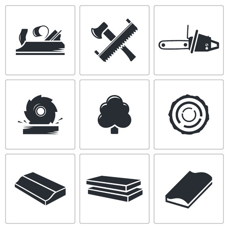 woodworking  icon collection on a white background