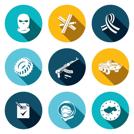 quadrant: Opposition icon set on a colored background