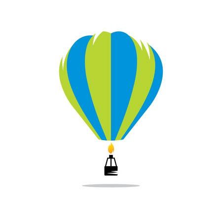 air sport: Aerostat icon isolate on a white background