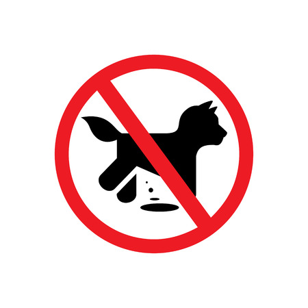 excrement: prohibition dog walking Vector Isolated symbol on a white background