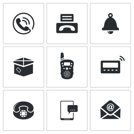 pager: communication icon collection on a white background Illustration