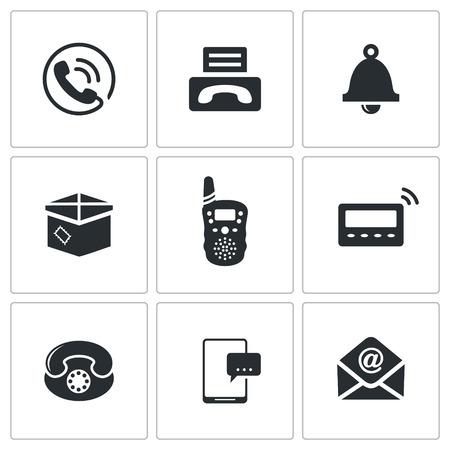 telegrama: comunicaci�n icono de la colecci�n sobre un fondo blanco Vectores
