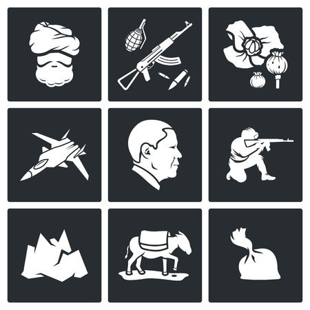 transit: Vector Isolated Flat Icons Set on a black background