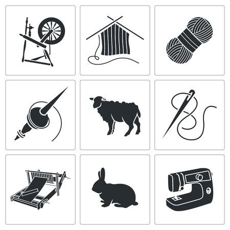 Vector Isolierte Flach Icons Sammlung auf einem weißen Hintergrund Standard-Bild - 40086200