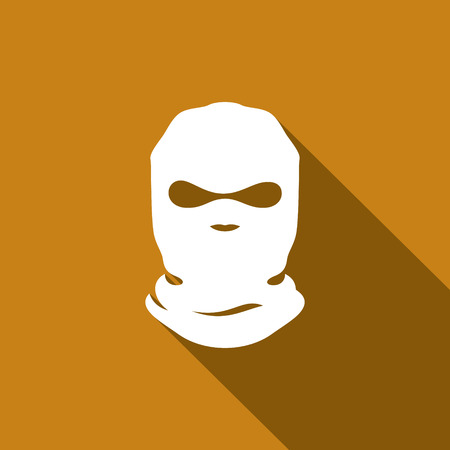 balaclava icon vector design template Isolated on a dark background
