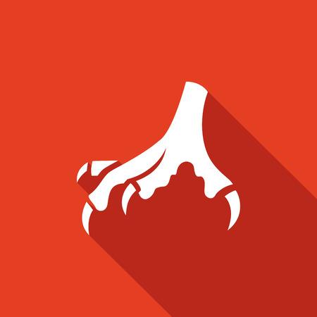 Vector Aislado colección Icono plana sobre un fondo rojo