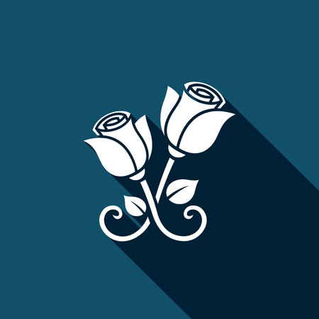 everlasting: forged roses Vector Isolated Flat Icon on a dark background for design