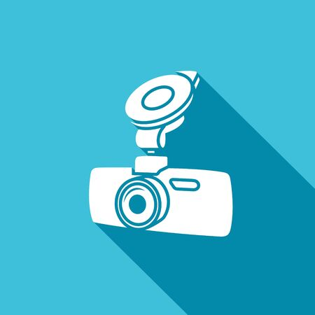 outboard: Vector Isolated Flat Icon on a blue background for design