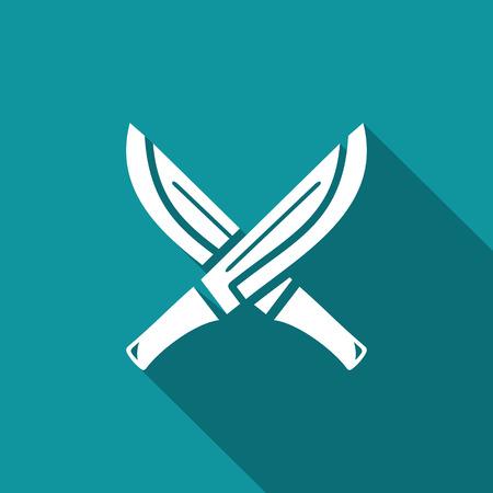machete: Machete Vector Isolated Flat Icon on a dark background for design