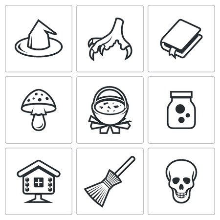 hag: Hag Vector Isolated Flat Icons collection on a white background for design Illustration