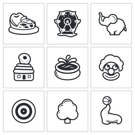 animator: Vector Isolated Flat Icons collection on a white background for design