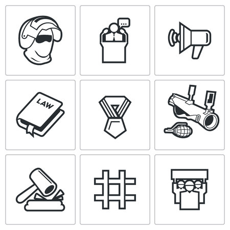 ultimatum: Vector Isolated Flat Icons collection on a white background for design