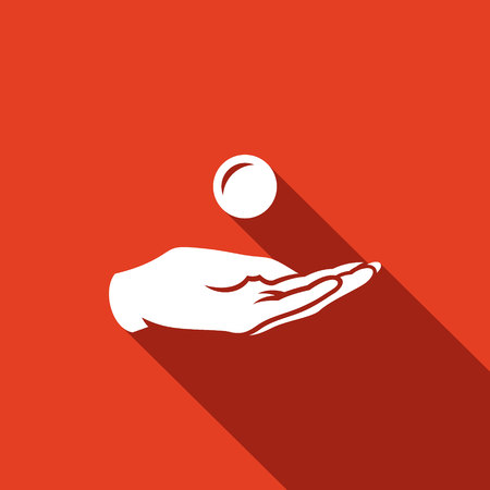 annular: Vector Isolated Flat Icon on a red background for design Illustration