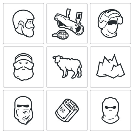 creative force: Vector Isolated Flat Icons collection on a white background for design