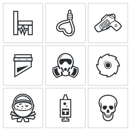 head shot: Vector Isolated Flat Icons collection on a white background for design