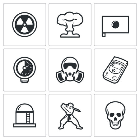 levels: Vector Isolated Flat Icons collection on a white background for design