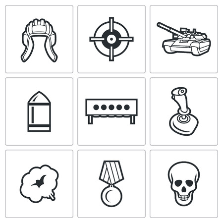 fragmentation: Vector Isolated Flat Icons collection on a white background for design