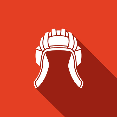 Vector Isolated Flat Icon on a red background for design Illustration