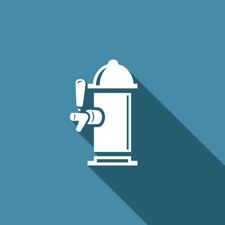 on tap: Vector Isolated Flat Icon on a blue background for design