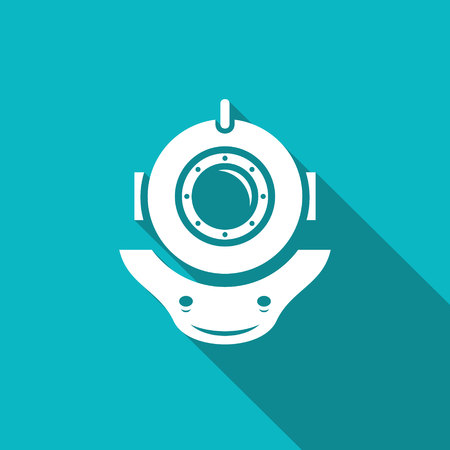 Vektor isoliert Wohnung Symbol auf einem blauen Hintergrund für Design-