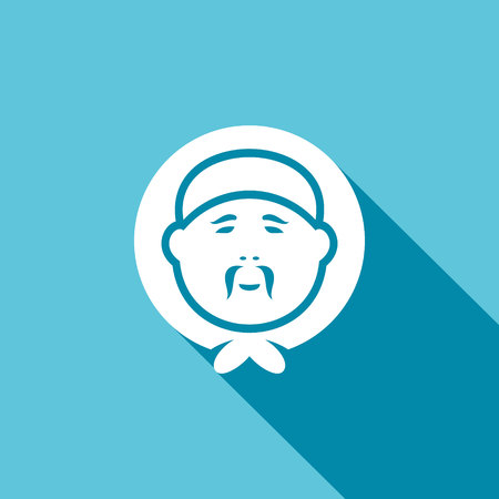 gaff: Vector Isolated Flat Icon on a blue background for design