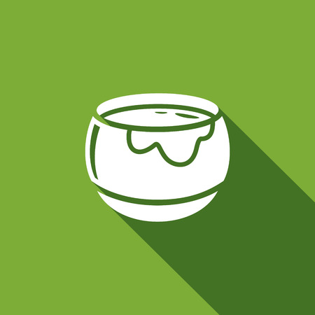 Vector Isolated Flat Icon on a green background for design