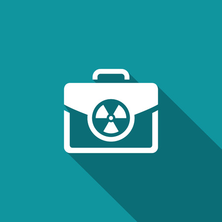 nuclear power: Vector Isolated Flat Icon on a blue background for design