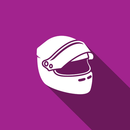motorcycle helmet: Vector Isolated Flat Icon on a dark background for design