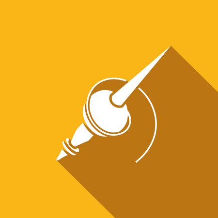spindle: Vector Isolated Flat Icon on a yellow background for design