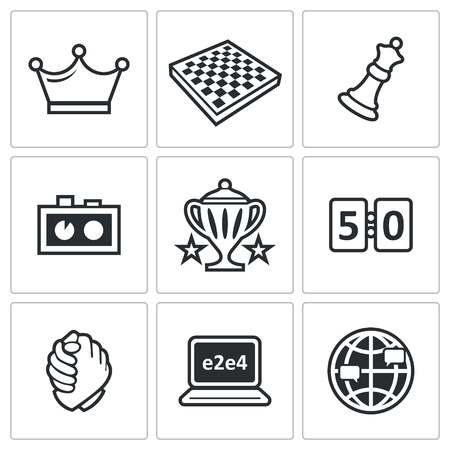 gm: Vector Isolated Flat Icons collection on a white background for design