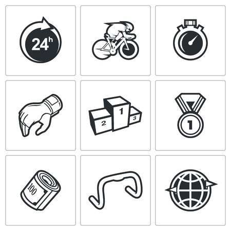 biking glove: Vector Isolated Flat Icons collection on a white background for design