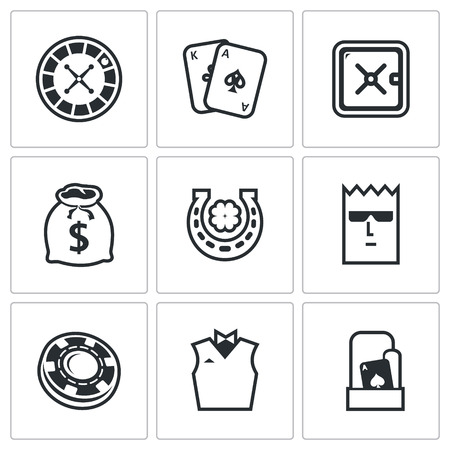 manic: Vector Isolated Flat Icons collection on a white background for design