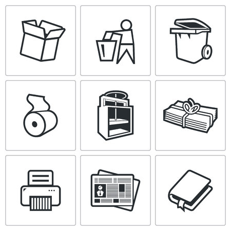recycle icon: Vector Isolated Flat Icons collection on a white background for design