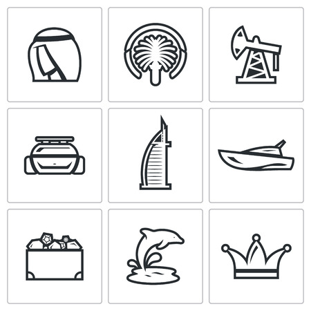 treasure chest: Vector Isolated Flat Icons collection on a white background for design