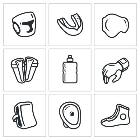groin: Vector Isolated Flat Icons collection on a white background for design