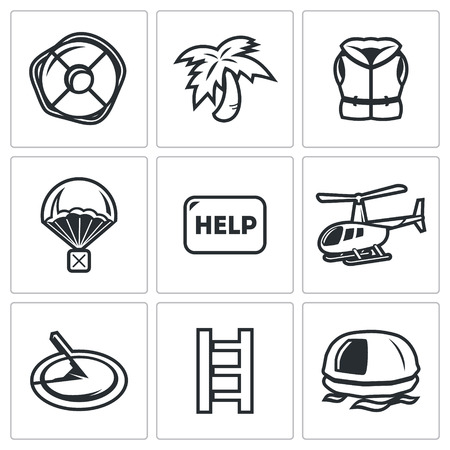 robinson: Vector Isolated Flat Icons collection on a white background for design