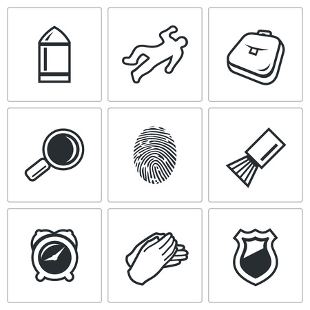 witness: Vector Isolated Flat Icons collection on a white background for design