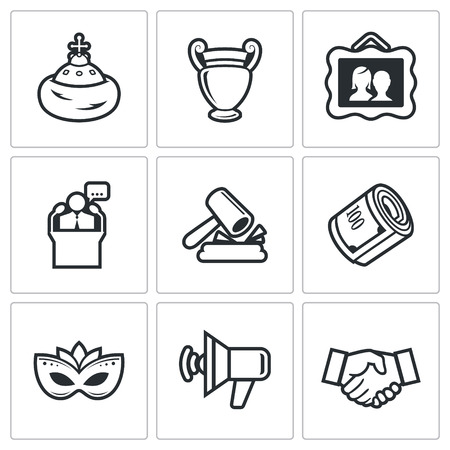 incognito: Vector Isolated Flat Icons collection on a white background for design